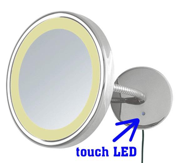 Kosmetikspiegel mit Flexoschlauch verstellbar und Beleuchtung by Bavaria Bäder-Technik GdbR