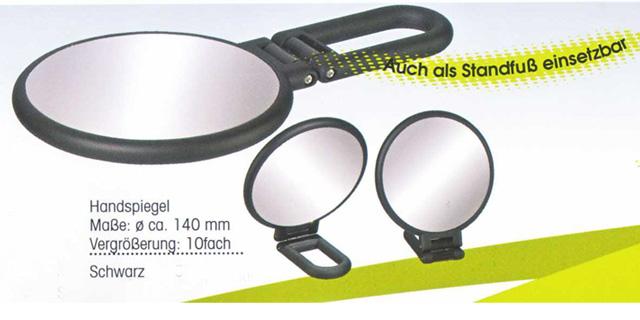 Kosmetikspiegel als Handspiegel und als Standspiegel verwendbar mit 10-fach Vergrösserung by Bavaria Bäder-Technik Gdbr
