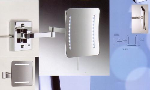Kosmetikspiegel beleuchtet in quadratischer Spiegelform by Bavaria Bäder-Technik GdbR
