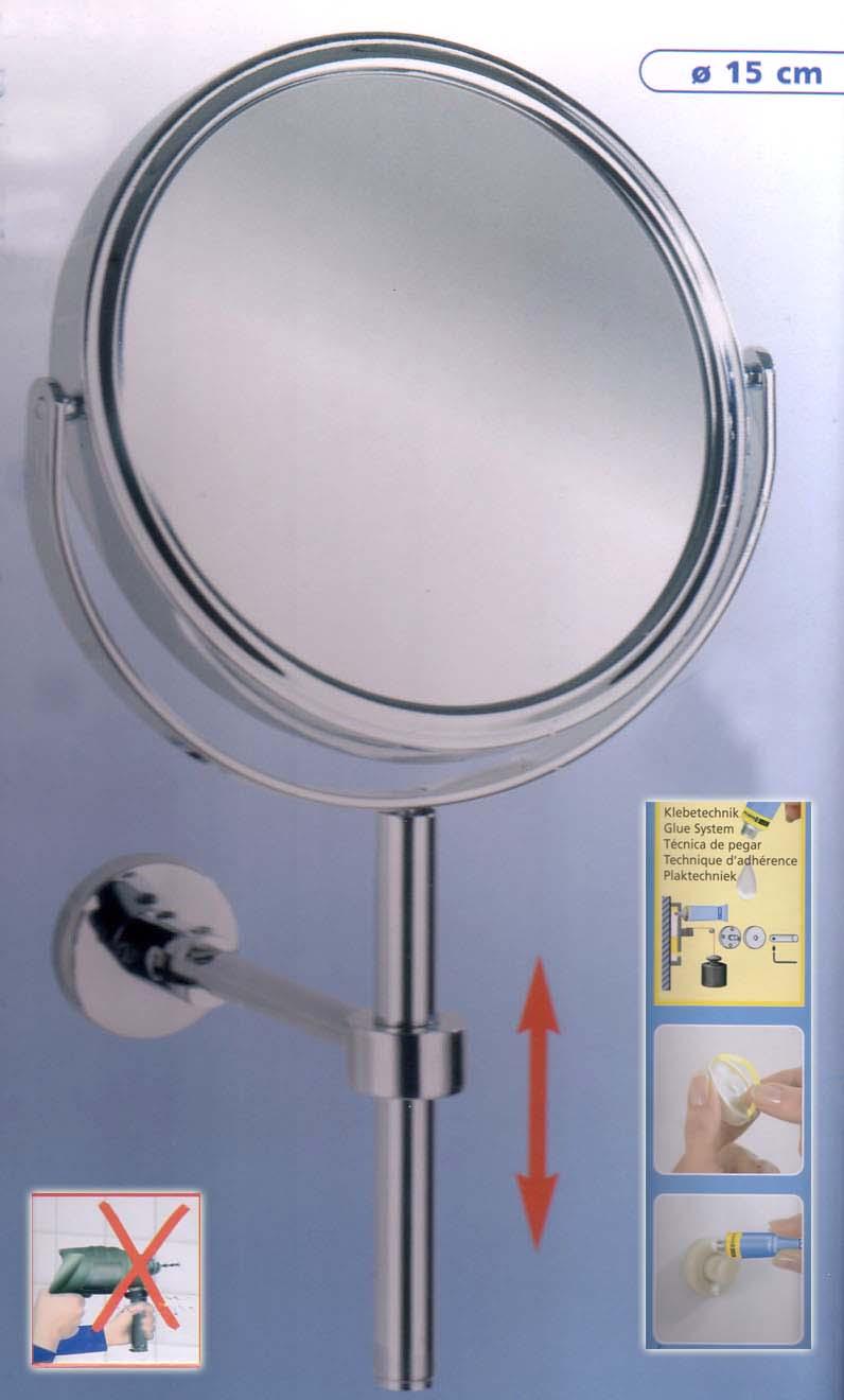 Kosmetikspiegel mit Klebebefestigung als Klebespiegel by Bavaria Bäder-Technik GdbR