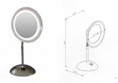 Kosmetikspiegel als Standspiegel zum Stellen mit Batterie-betrieb