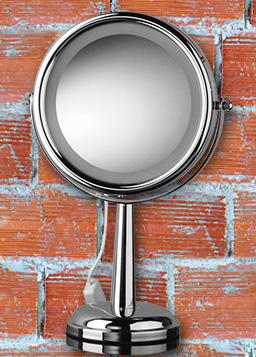 Kosmetikspiegel als Standspiegel und mit LED beleuchtet