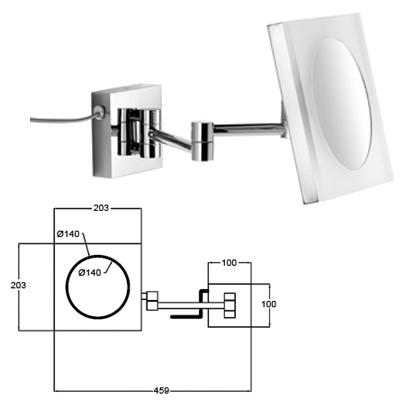 Wandspiegel mit Vergrösserung beleuchtet LED by Bavaria Bäder-Technik GdbR