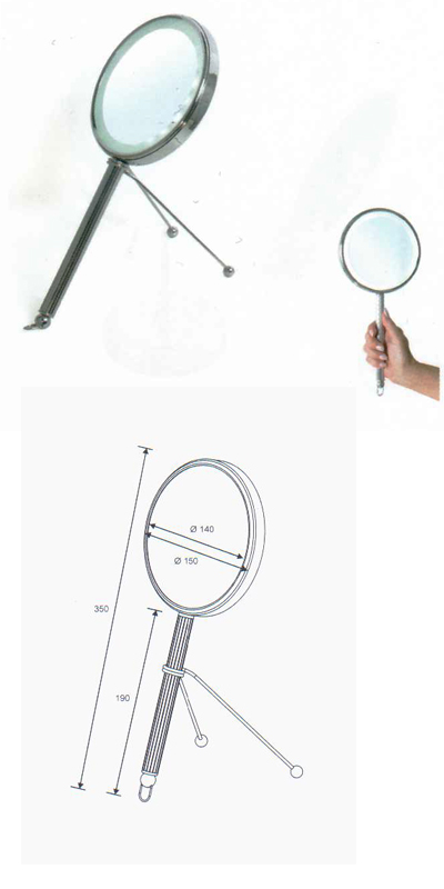 Kosmetikspiegel zur Verwendung als Handspiegel sowie als Standspiegel by Bavaria Bäder-Technik GdbR
