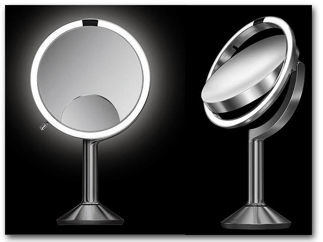 Turbo Kosmetikspiegel Rasierspiegel Schminkspiegel beleuchtet Standspiegel VH88
