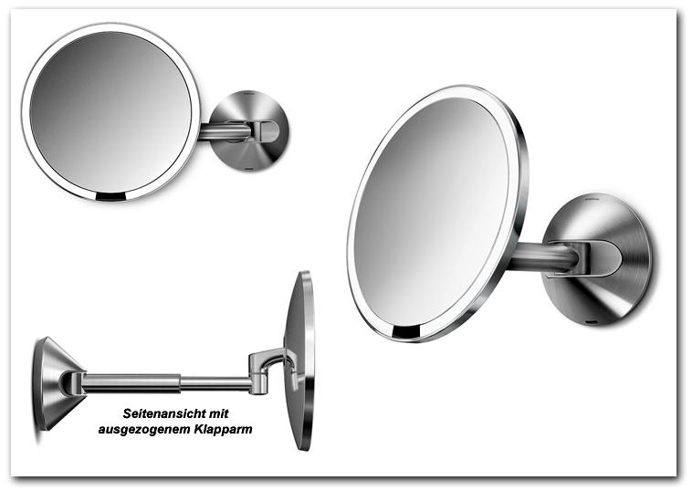 Kosmetikspiegel und Schminkspiegel wiederaufladbar mit Akku by Bavaria Bäder-Technik GdbR