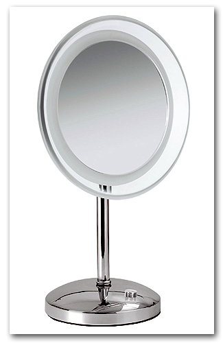 Kosmetikspiegel Standmodell mit LED-Beleuchtung