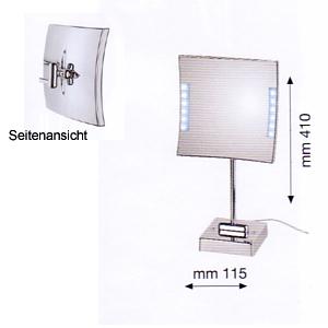 Kosmetikspiegel zum Stellen als Lichtspiegel mit LED beleuchtet by Bavaria Bäder-Technik GdbR