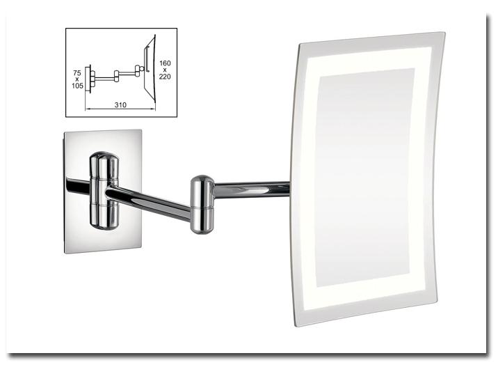kosmetikspiegel mit beleuchtung wandmontage oz26 kyushucon. Black Bedroom Furniture Sets. Home Design Ideas