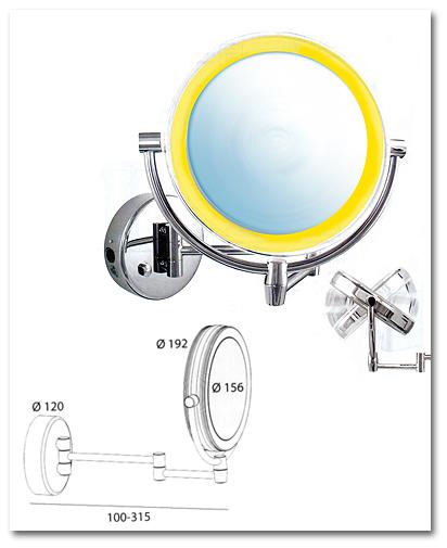 Kosmetikspiegel mit Licht und Akku by Bavaria Bäder-Technik GdbR