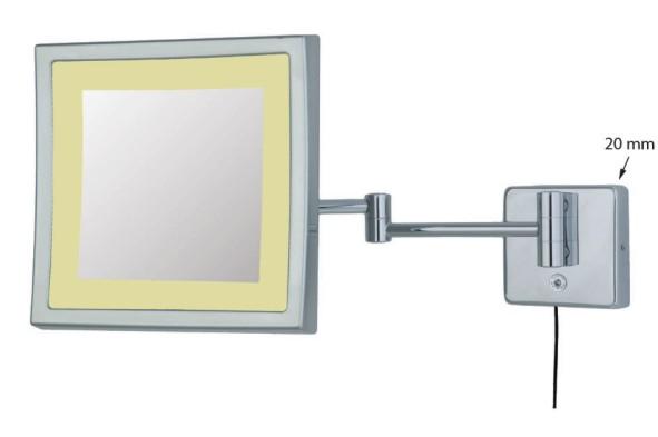 Kosmetikspiegel in der Form quadratisch by Bavaria Bäder-Technik GdbR