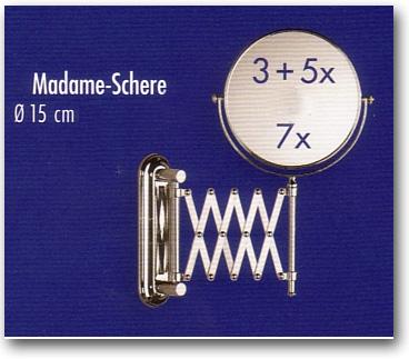 Kosmetikspiegel mit verschiedenen Vergrösserungen am ausziehbaren Gelenkarm Schere by Bavaria Bäder-Technik GdbR