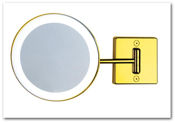 Kosmetikspiegel in der Farbe gold mit Beleuchtung by Bavaria Bäder-Technik GdbR