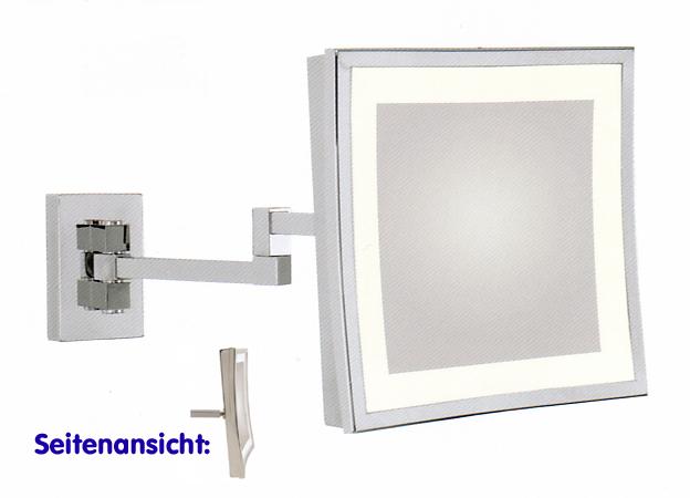 Kosmetikspiegel Schminkspiegel quadratisch mit Beleuchtung by Bavaria Bäder-Technik GdbR