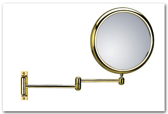 Kosmetikspiegel Schminkspiegel in der Oberfläche goldfarben by Bavaria Bäder-Technik GdbR