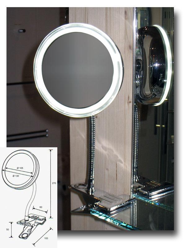 Kosmetikspiegel und Rasierspiegel mit Beleuchtung by Bavaria Bäder Technik GdbR mit Batteriebetrieb