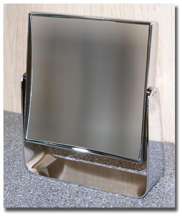 Standspiegel mit Vergrösserung mit Spiegel in eckig by Bavaria Bäder-Technik GdbR