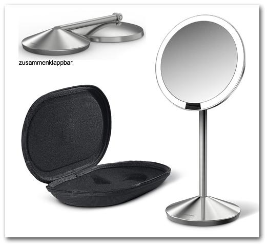 kosmetikspiegel rasierspiegel schminkspiegel beleuchtet standspiegel. Black Bedroom Furniture Sets. Home Design Ideas