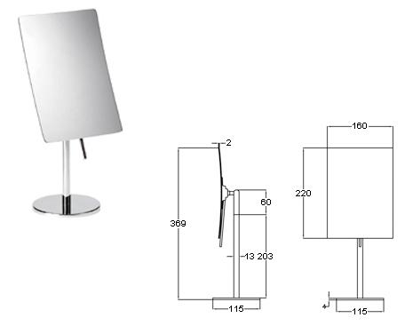 Standspiegel mit 3-fach Vergrösserung by Bavaria Bäder-Technik GdbR