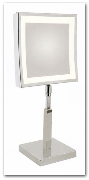 Stellspiegel zur Verwendung als Kosmetikspiegel mit Beleuchtung by Bavaria Bäder-Technik GdbR